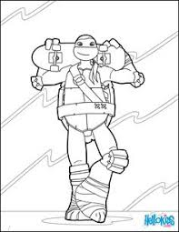 ninja turtles michelangelo coloring picture kids teenage