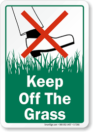 keep grass signs free shipping options