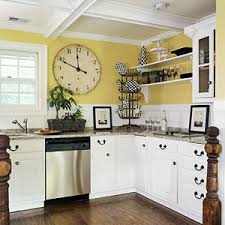 White And Yellow Kitchen Ideas - new yellow kitchen walls with white cabinets home interior