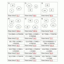 decimal place value worksheets 4th grade in math worksheets for