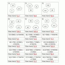 decimal place value worksheets 4th grade in math worksheets for