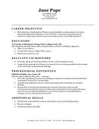 resume objective entry level resume exampleobjectives for