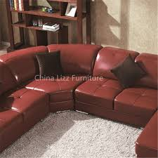 luxury leather sofa bed home furniture red upholstered leather sofa bed