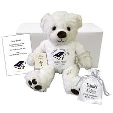 gifts for communion communion teddy gift set personalized 13 white vera
