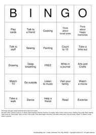 Coping Skills For Anxiety Worksheets Coping Skills Bingo Coping Skills Bingo And