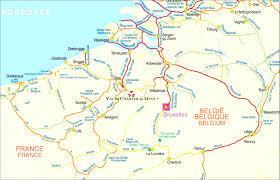 netherland map europe belgium the netherlands aa road map europe series within 2