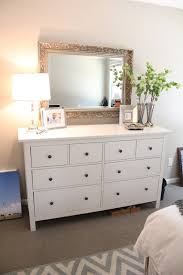 Dresser In Bedroom Large Mirror Hung The Dresser For Our Home Pinterest