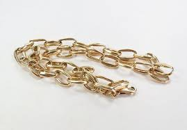 large gold link necklace images Large vintage 14k yellow gold chain link necklace item 1346496 jpg