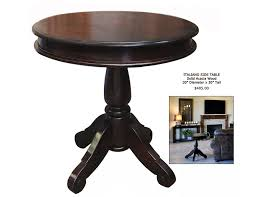 dark wood side table small round dark wood side table round designs