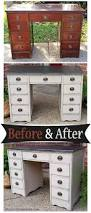 desk in distressed black u0026 oatmeal before u0026 after facelift