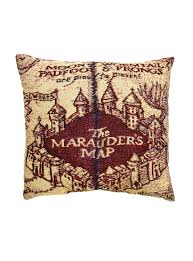 Harry Potter World Map by Harry Potter Marauder U0027s Map Pillow Topic