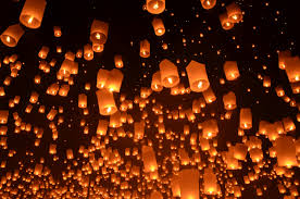 luck lanterns endless traveling map yi peng lantern festival in chiang mai