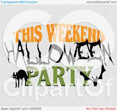 halloween bats transparent background clipart of a black cat bat and this weekend halloween party text