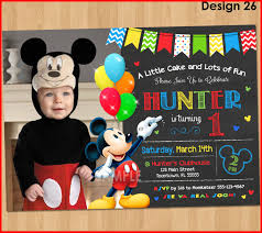 mickey mouse 1st birthday inspirational mickey mouse 1st birthday invitations collection of