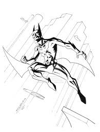 batman beyond coloring page free download