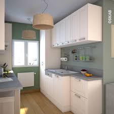 cuisine verte et grise cuisine authentique couleur ivoire plan de travail décor béton