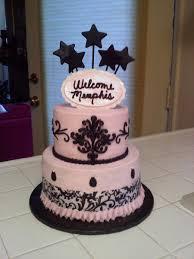pink and black baby shower cake cakecentral com