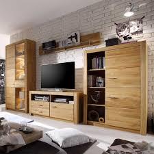 Wohnzimmerschrank Folieren Wohnzimmer Wohnwand Harris Aus Eiche Geölt Pharao24 De