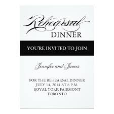 rehearsal dinner invite dinner invitation black and white simple invitation card