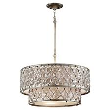 drum light chandelier feiss cage pendant lights lighting the home depot