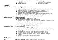 sumptuous design inspiration housekeeper resume 5 unforgettable