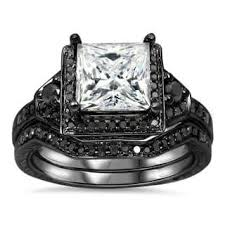 black wedding sets black bridal jewelry sets shop the best wedding ring sets deals