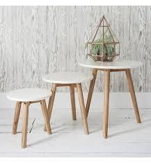 white nest of tables scandi nest of tables white