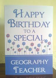 female geography teacher birthday greeting card free uk postage