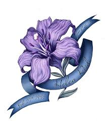 Purple Lily Flower Amazing Purple Lily With Banner Tattoo Design By Laura