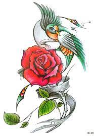 online get cheap flower bird tattoo aliexpress com alibaba group