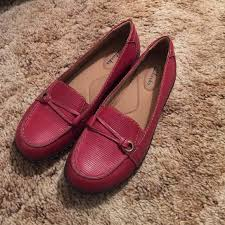 Most Comfortable Clarks Shoes Nwot Red Clarks