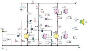 140 watt audio lifier using 6 transistors electronics