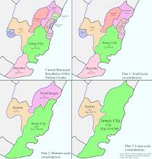Nj Counties Map Three Plans To Consolidate The Municipalities Of Hudson County