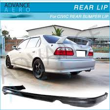 2000 honda civic spoiler for 99 00 honda civic 2 4dr pu type r style rear bumper lip