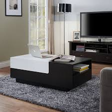 Coffee Tables With Storage by Amazon Com Iohomes Carone Modern Coffee Table Black White