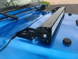 led lights for jeep wrangler 97 06 jeep wrangler tj 30 led light bar hood mounting brackets