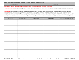 doc 7201024 waiver of liability form free u2013 printable sample