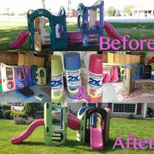 little tykes playground makeover found a used playground on fb