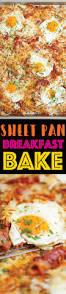 vaisselle petit dejeuner sheet pan breakfast bake recette petit déjeuner cuisines et