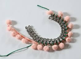 diy pom pom statement necklace