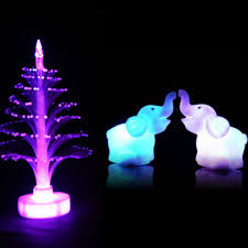 a pairs 7 color changing elephant led night light lamp with