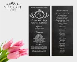 chalkboard wedding program chalkboard wedding programs set of 10 vip craft studio
