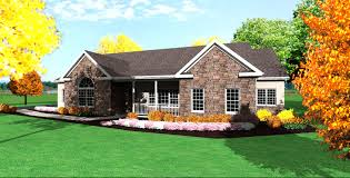 Small Ranch Plans by Single Story Ranch House Plans Linwood One Story Home Plan 028d