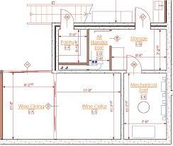 wine cellar floor plans showcase for a green eichler remodel