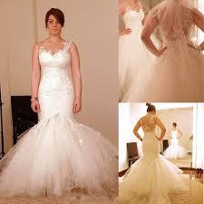 2015 wedding dresses sheer neckline appliques detachable skirt