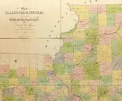 of illinois map map of illinois and missouri digital library