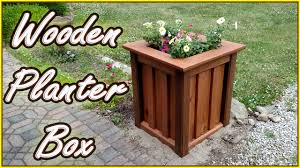 diy planter box treated wood youtube