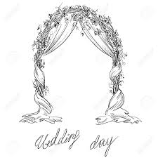 wedding arches to purchase wedding arch decoration vector sketch design element royalty