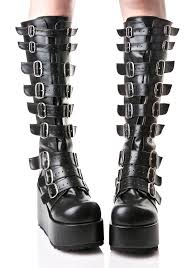 s boots with buckles concord buckle platform boots metal buckles vegan leather and