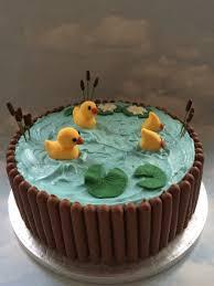 duck cake duck pond cake pinteres